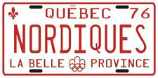 Quebec Nordiques Hockey 1976 License plate