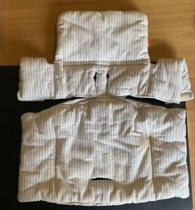 Stokke Tripp Trapp Cushion, Beige/stripes 100% Original Accessory