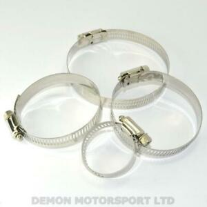 Silicone Hose Clamps - Stainless Steel (Worm Drive) Jubilee Clips