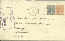 Malaya PERAK-SG#110,#107 IPOH 9/OCT/1939 SLOGAN CANCEL-WWII CENSOR(Em.77)