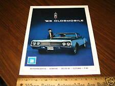 1965 OLDSMOBILE Car Sales Brochure Dutch Holland