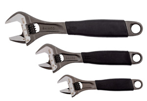 """BAHCO 3 Piece Set 6"""" 8070 8"""" 8071 10"""" 8072  Adjustable Wrench Spanners, ADJUST3"""