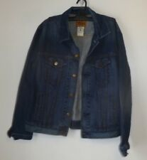 Women's Jean Jacket,Size L,Blue,Pockets,1969,Men's