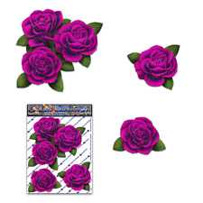 Pink Rose Small Flower Pack Garden Decal Car Sticker-ST00066PK_SML-JAS Stickers