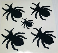 Halloween Wall Stickers - Spider x 5 Spooky Spiders graphics decal