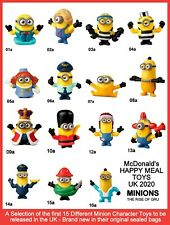 McDonald's Happy Meal Toys UK 2020 Minions Rise Of Gru Character Figures Various