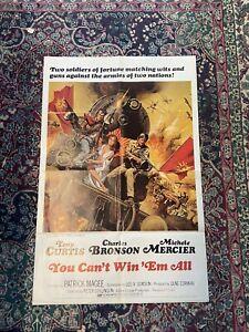 You Can't Win 'Em All ~original movie poster 1970~
