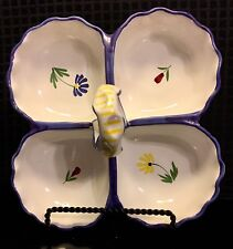 Shafford Avignon Divided Dish Strata Group 1986 Hand Painted Italy