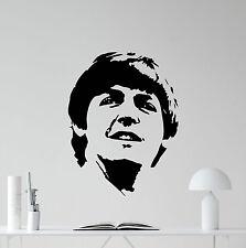 Paul Maccartney Wall Decal The Beatles Vinyl Sticker Music Art Decor Mural 78nnn