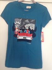 Paul Frank Julius/Monkey Tee - NEW - Small/Juniors -100% Cotton - Drive-In