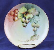 "Vintage Heinrich & Co Selb (H & Co) Bavaria Porcelain Plate White Currants 7.75"""