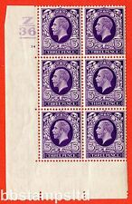 SG. 444. N57. 3D Violet. un superbo Unmounted MINT blocco di 6. controllo Z36. 1 bar.