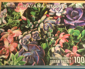 Havana Nights Succulent Garden Jigsaw Puzzle 1000 Pieces Jigsaw Puzzle Colorful