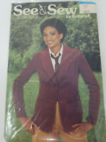 Vintage Sewing Pattern 1980s Riding Jacket Size 12 Butterick 6217