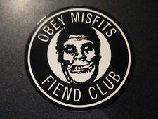 """MISFITS X OBEY Sticker 2.5"""" FIEND CLUB CIRCLE like poster print Shepard Fairey"""