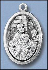 """St John of God / Pray for Us Oxidized Medal (7/8"""" x5/8"""")"""