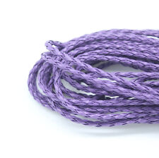 New 5M Purple Leatheroid Braided Cord Necklace Bracelet Jewelry Craft DIY D001