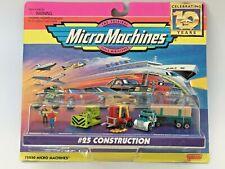 MICRO MACHINES 1997 #25 CONSTRUCTION BULLDOZER FORKLIFT LUMBER FLATBED SEMI NEW