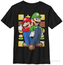 Youth: Super Mario Bros- Standing Tall Apparel Kids T-Shirt YS - Black
