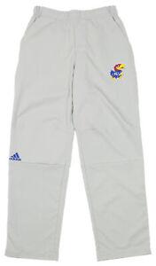 Adidas NCAA Men's Kansas Jayhawks Team Logo Climalite Woven Pant, Stone