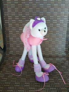 "2001 Barbie Long Legged Pose Me Pet Ballerina Kitty Plush Stuffed Toy Mattel 11"""