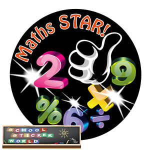Teacher Reward Sticker 48 PERSONALISED (-ABLE) Merit School Well Done Maths