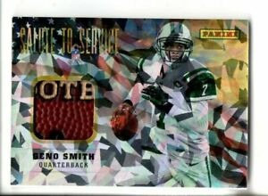 2014 PANINI GENO SMITH SALUTE TO SERVICE GAME USED FOOTBALL