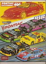 1993 Pontiac 400 Program Davey Allison win
