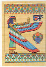 Papyrus Painting THE GODDESS ISIS
