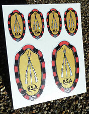 BSA Crest Vintage Cycle Bike Frame Decals Stickers metallic ink