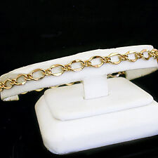 "10"" Ladies 5mm FANCY OPEN CURB Link 14K Gold EP Anklet ~ 10"" NEW ANKLE CHAIN"