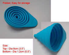 New Silicone Small Collapsible Funnel silicon Kitchen - Light Blue