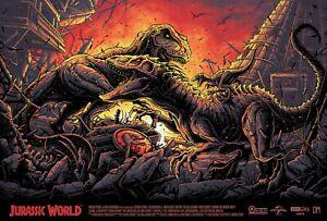 Jurassic World Dan Mumford Screenprint Variant Numbered Dinosaur Christmas