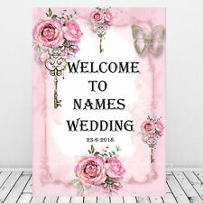 Personalised Wedding Welcome Sign Print, Names Dates, Wedding Decor, Venue Decor