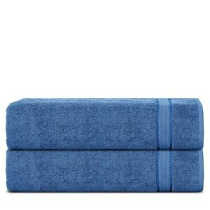 Sweet Needle -100% Cotton 600 GSM Super Soft Large Bath Sheet Towels (Pack of 2)
