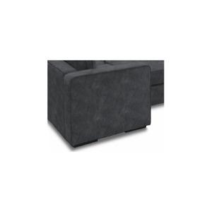 Sactional Deep Side Cover - Black Padded Velvet
