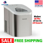 26 lb. Countertop Ice Maker Stainless Steel Home Appliances NEW photo