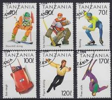 Tansania Mi Nr. 1705 - 1710, gest., Sport Eishockey, Ski fahren, Bob, Free Style
