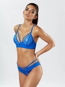 50% SALE! Ann Summers THE BEACH GIRL Bikini TOP + BRIEF, Blue *NEW* RRP£44