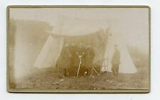 CDV. Militaires Allemands . Toile de tente militaire . Camp. German Military.