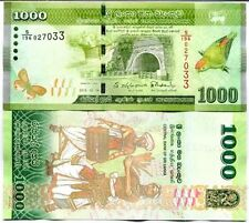 Sri Lanka - 1000 Rupees -  UNC currency note - 2015 issue