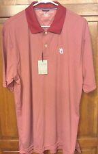 Tommy Hilfiger Auburn Tigers AU Polo Shirt Techno-Dry Red White Men's XL NWT New