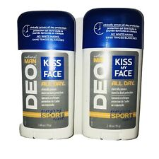 2 - Kiss My Face Natural Man Deo Deodorant Energizing Sport Scent 2.48 oz. Stick
