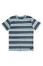NWT Quiksilver Big Boys M Short Sleeve T-Shirt Tee Dry Ice Stripe Tourmaline