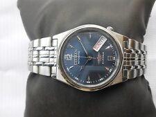 EXCELLENT Vintage SS CITIZEN MIDSIZE 32MM BUE DIAL Gents Automatic WristWatch