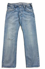 Homme Diesel TIMMEN 8GI jeans taille taille 31 Jambe 30 Coupe Droite Effet Vieilli Délavé