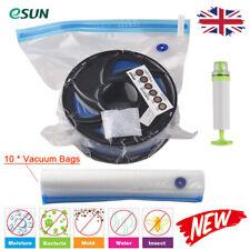 More details for esun vacuum storage reusable bag compression dry pouch space saver w/ pump j6m8