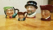 4pc Royal Doulton Toby Mugs