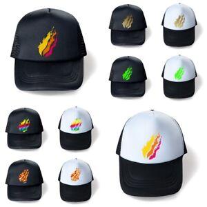 Kids Prestonplayz Flame Pizza Ice-cream Adjustable Cap Cotton Baseball Hats Gift