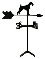 airedale terrier roof weathervane black wrought iron